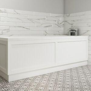 1800mm Matt White Bath Front Panel - Baxenden