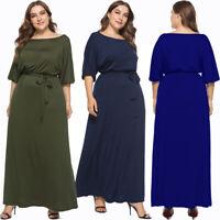 Summer Women Plus Size Off Shoulder Party Dress Evening Maxi Long Beach Dresses