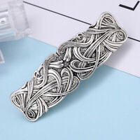Vintage Style Floral Large Celtic Hair Clip Silver French Hair Clamp Barrette