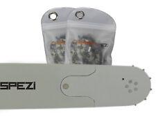 """130cm Schwert 3/8"""" 2 Vollmeißelketten 156TG 1,6mm für Partner P7700 7700"""