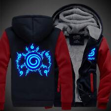 Anime Naruto Uzumaki Unisex Thicken Jacket Sweater Hoodie Luminous Coat Cos #E-4