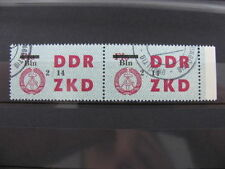 2 Stamps Briefmarken Germany DDR overprint Bln ZKD Ungültig used