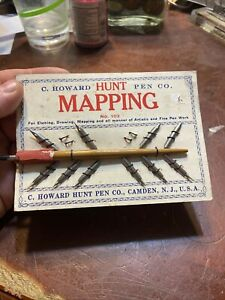 C. Howard Hunt Pen Co. Mapping No. 103 for Etching,Drawing and mapping display