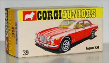 DISPLAY BOX FOR CORGI JUNIORS 39 JAGUAR XJ6 RED  -  FREE UK POST