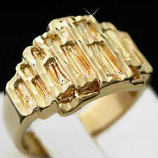 Yellow Gold Filled Signet Rings without Stone for Men
