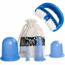 Ventouse Anti-Cellulite Kit - SiFar 6PCS Minceur Roller Silicone Massage Cups, A