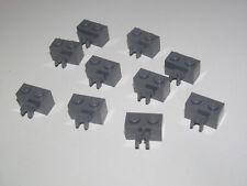 Lego ® Lot x10 Briques Pince 1x2 Brick w Vertical Clip DK Stone Grey 30237 NEW
