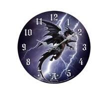 Lightning Dragon Quartz Movement Round Wall Clock Alchemy Gothic