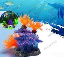 Artificial Fake Sea Anemone Coral Aquarium Fish Tank Ornament Underwater Decor M