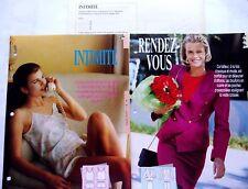 PATRONS COUTURE/ femme/LINGERIE caraco et culotte/TAILLEUR Veste et jupe ref.520