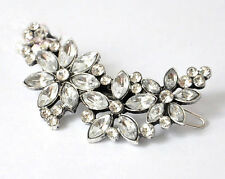 Fashion Crystal Rhinestone Flower Hair Barrette Clip Hairpin Women Jewelry