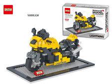 Nano Block Motorcycle Yellow Dr.star Diamond Building Block Mini Block Toys Gift