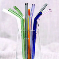 1pc Colorful Clear Glass Straws Reusable Drinking Straw Wedding Party Supplies