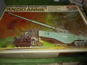 MINICRAFT HASEGAWA 728, 1/72 K5E ANZIO ANNIE RAILWAY GUN PLASTIC MODEL KIT