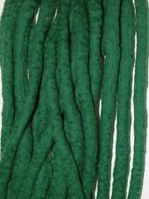 Forest Green dreadlocks - 16 Handmade felted merino wool double ended dreads