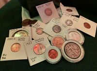 US Coin Set Including Silver Half Dollars Silver Quarters, Silver Dimes and More