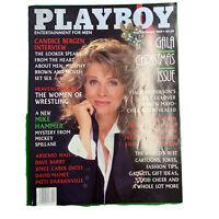 PLAYBOY Magazine Vintage Centerfold December 1989 Candice Bergen Galla Issue