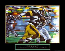 STRIVE Motivational FOOTBALL Running Back Poster Print (Artist Bill Hall)