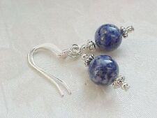 Lapis Lazuli Earrings Genuine Navy Blue w/ Pyrite Minimalist Sundance Gemstone