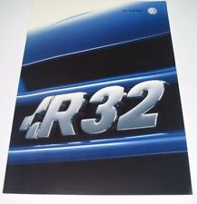 Auto Prospekt Katalog VW Golf IV 4 Typ 1J R32 mit 241 PS August 2002!