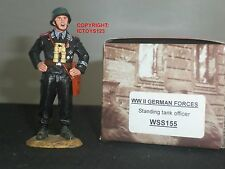 KING AND COUNTRY WSS155 GERMAN TANK OFFICER STANDING METAL TOY SOLDIER FIGURE