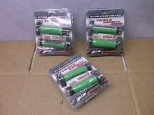 "Three Pairs of ""ProGrip"" Gray & Green 791 Triple Density MX Grips for Dirt Bikes"