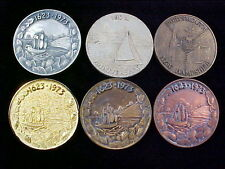 """1623-1973 Portsmouth, NH Lot of 6 medals including the Rare Collector's """"Copper"""""""