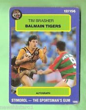 1990 BALMAIN TIGERS RUGBY LEAGUE CARD #12  TIM BRASHER