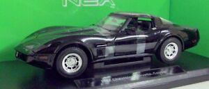 Welly 1/18 Scale - 12546W 1982 Chevrolet Corvette Coupe Black