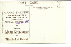 Theatre Advertisement - Marie Studholme at the Grand Theatre, Wolverhampton
