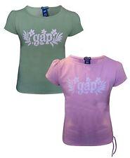 Kids Girls Pink/Khakee Green Gap Fashion T-Shirt Top