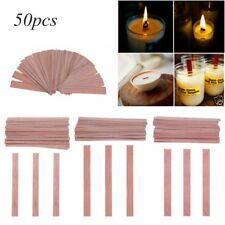 50pcs/bag Solid Wood Wicks Candle Soy Palm Wax Candle DIY Making Supply 4 Sizes