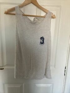 Roxy Marl Vest Top Size Large With Back Tie Detail Surf Cute Summer Vest