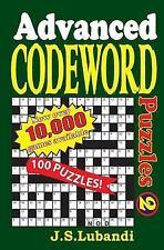 Advanced Codeword Puzzles 2 by J. Lubandi (2014, Paperback)