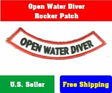 OPEN WATER DIVER ROCKER chevron Iron-on adventure Certificate Embroidered Patch