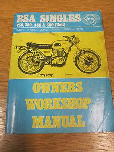 BSA SINGLES 250 350 440 500 UNIT 1958-1972 HAYNES OWNERS WORKSHOP MANUAL
