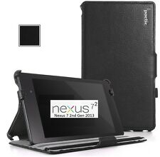"Poetic Google Nexus 7"" - 2nd Gen 2013 Model-Strap Back Stand Cover Case: Black"