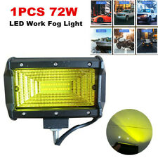 1PC 72W LED Work Fog Light Flood Beam Yellow Lens for Car SUV ATV Truck Off Road