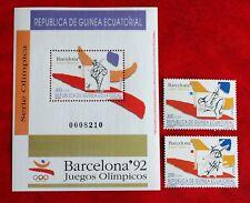 Año 1992-GUINEA ECUATORIAL OLIMPIADAS BARCELONA '92 MNH** Edif. 149/51