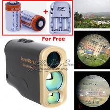 Pro 1000m Laser Range Finder Golf Distance Meter Speed Measurer+Battery&Charger