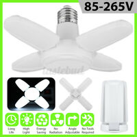 6500K Mini E27 LED Garage Light Deformable Ceiling Lamp Fixture Workshop Bulbs