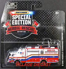 2015 Matchbox RWR Heroic Rescue® E-One Mobile Command Center RED/MBX F.D./EX-MT