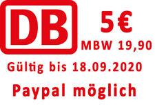 Paypal m?glich: 5 Euro Bahn DB Gutschein eCoupon, MBW 19.90.
