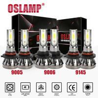 Combo 9005 + 9006 + 9145 LED Headlight HI-LO Beam Bulbs Fog Lights 6000K Xenon