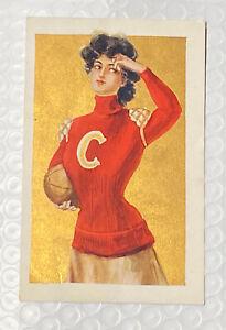 Gorgeous Vintage Cornell University Postcard! Ithaca, NY Football Early 1900s