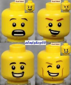 LEGO 10 Assorties Chair Heads tête pour figurine garçon homme fille certains réversible