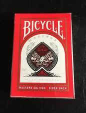Bicycle Master Edition Rare Uv500 Red Us Playing Cards Magic Ellusionist New
