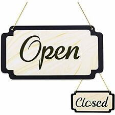 Open Signs For Business Double Side Closed Wood Grain Vintage Sign, Office