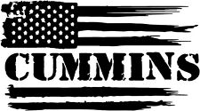 CUMMINS FLAG DECAL STICKER FOR CARS AND  TRUCKS