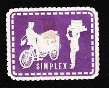 VINTAGE CINDERELLA Simplex Motorcycle Vendor Holland Old Hinge-Tape Remnant F